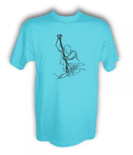 "Funshirt ""Dragon Fighter atoll blue-schwarz"""