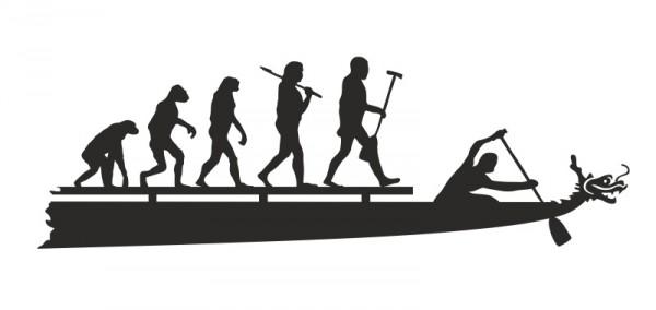 "Aufkleber ""Evolution"""