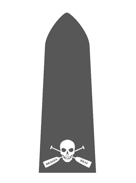 Paddelaufkleber Skull
