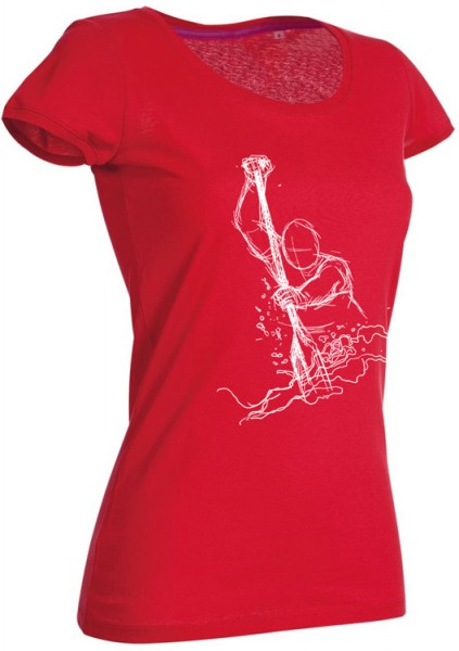 "Girlie-Funshirt ""Dragon Fighter"" rot weiß"